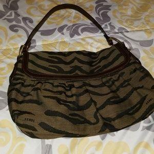 Fendi zebra stripe purse